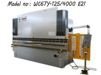 ZDP-12540 (WC67Y-125/4000) Hydraulic Plate Press Brake / Sheet Bending Machine