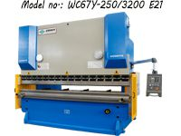 ZDP-25032 (WC67Y-250/3200) Hydraulic Press Brake / Metal Bending Machine Press Brake