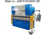 Hydraulic Press Brake Machine With E21 NC